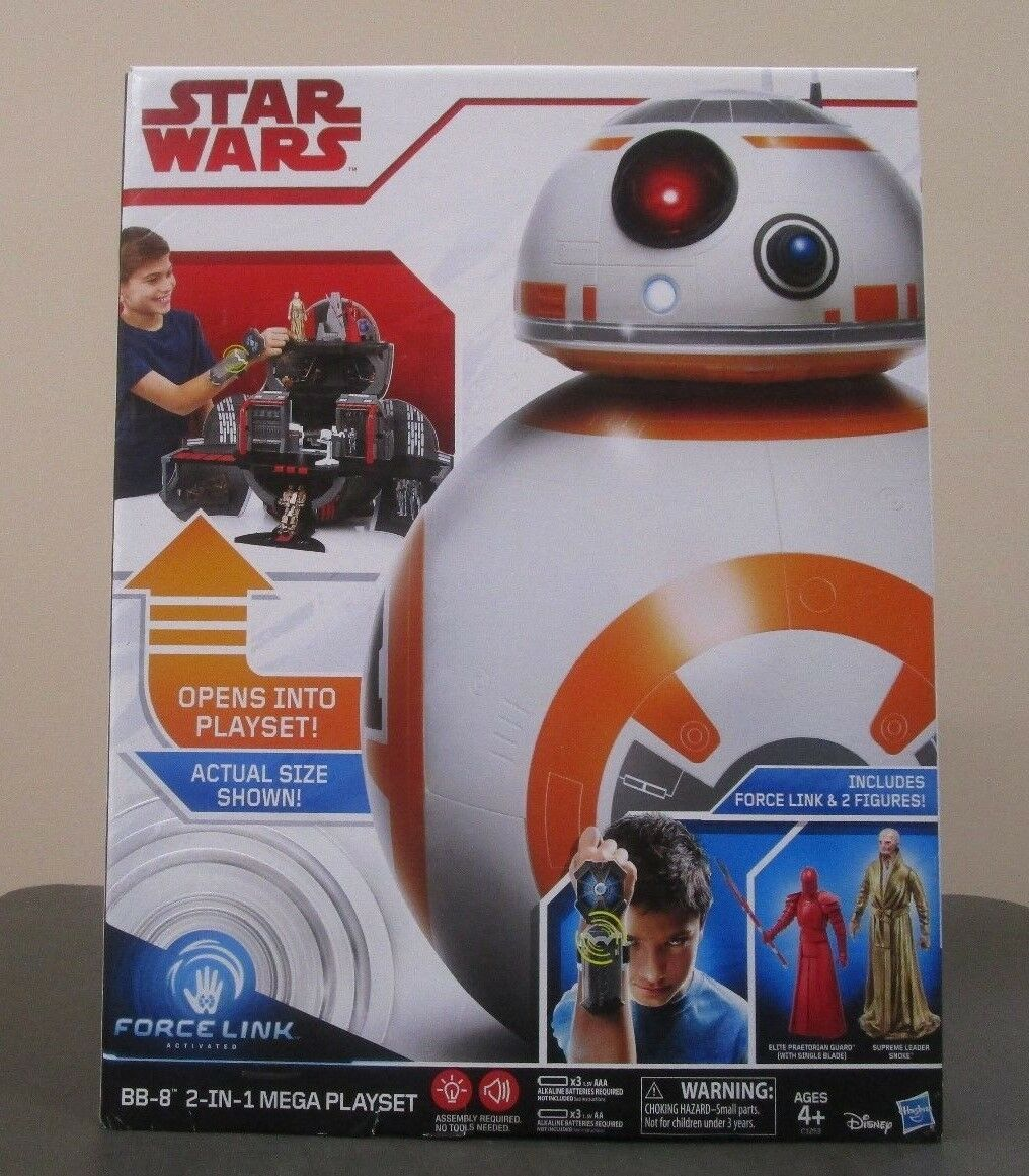 BB-8 Mega Playset 2 in 1 STAR WARS The Last Jedi Force Link MIB