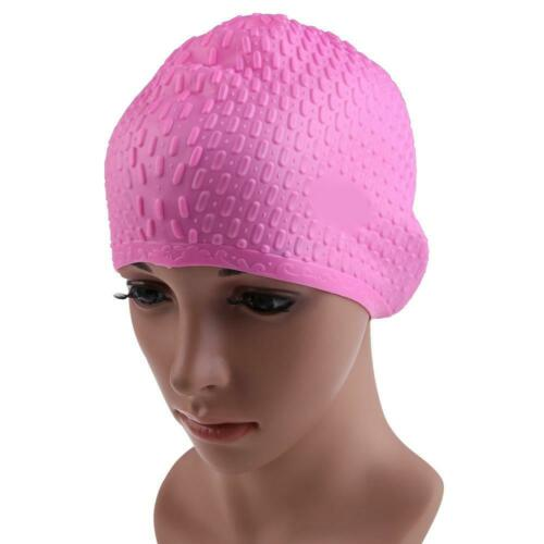 Flexible Adult Swimming Cap Waterproof Silicon Waterdrop Cover Multicolor  20