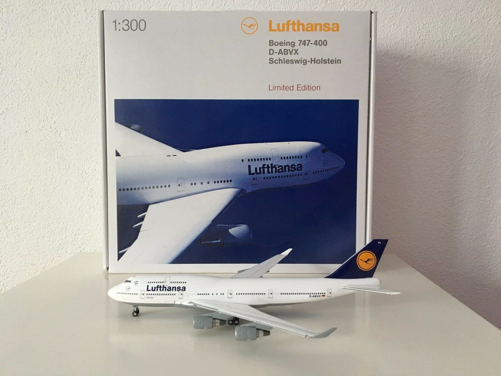 Herpa Wings lufthansa boeing b747-400 limitado 1 300 rar Art. nº 362580