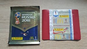 Panini-coupe-du-monde-2018-1-Sac-McDonalds-Belgique-Packet-Pack-Bustina-BELGIUM-WORLD-CUP-18