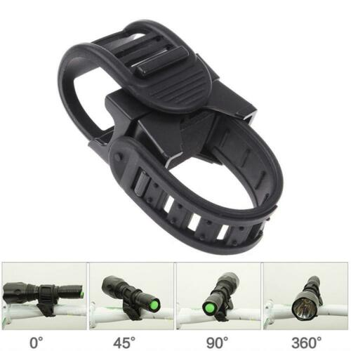 360° Cycling Bicycle Bike Mount Holder for LED Flashlight Torch Clip Clamp 1 Pc