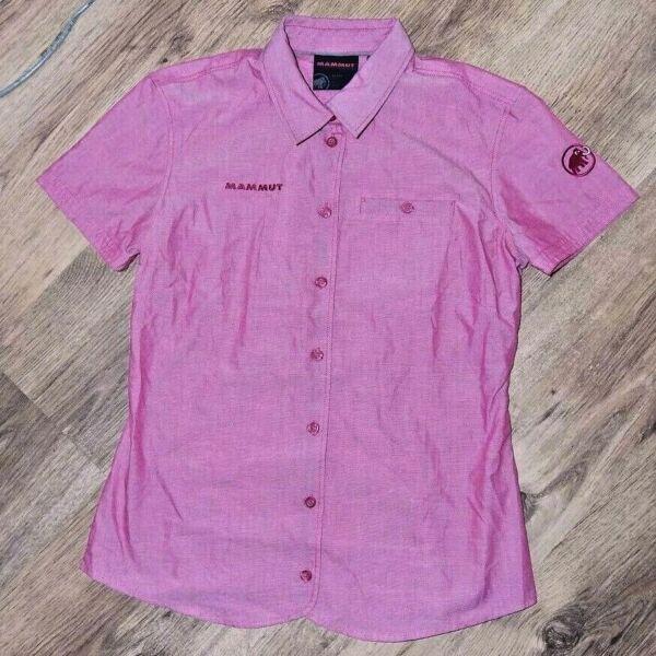* Mammut * Da Donna A Maniche Corte-shirt Tg S, Rosa, Nuovo!!!