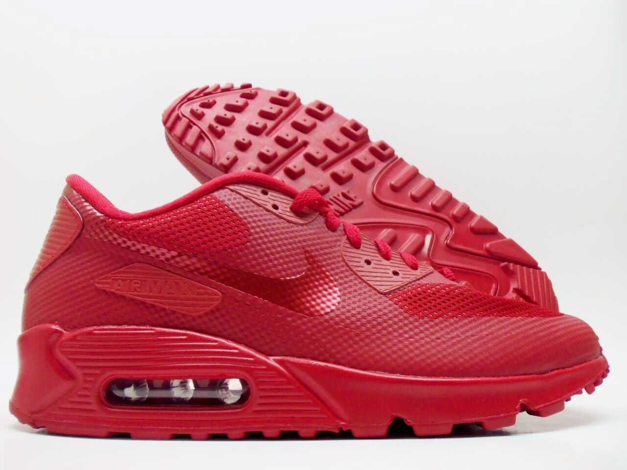 NIKE AIR MAX 90 HYPERFUSE PREMIUM ID RED OCTOBER SIZE MEN'S 8.5 [653603-992]