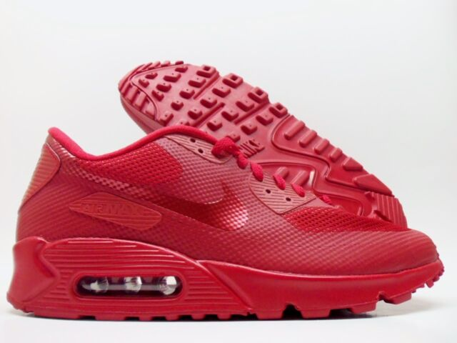 NIKE AIR MAX 90 HYPERFUSE PREMIUM ID RED OCTOBER SIZE MEN'S 8.5 [653603 992]