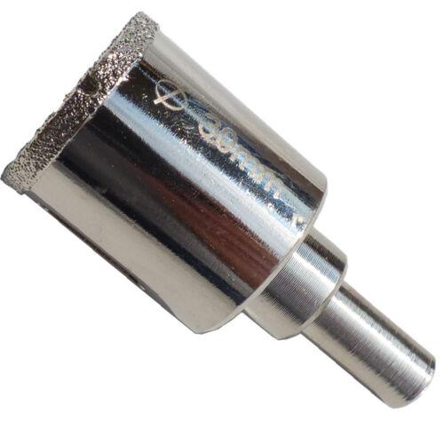 Fliesenbohrer Ø30mm Glasbohrer Diamantbohrer Kernbohrer Bohrkrone  Hohlbohrer