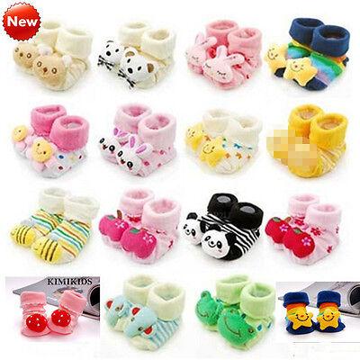 2013 HOT Unisex Cartoon Newborn Baby non slip Socks Slipper Shoes Boots WZ01