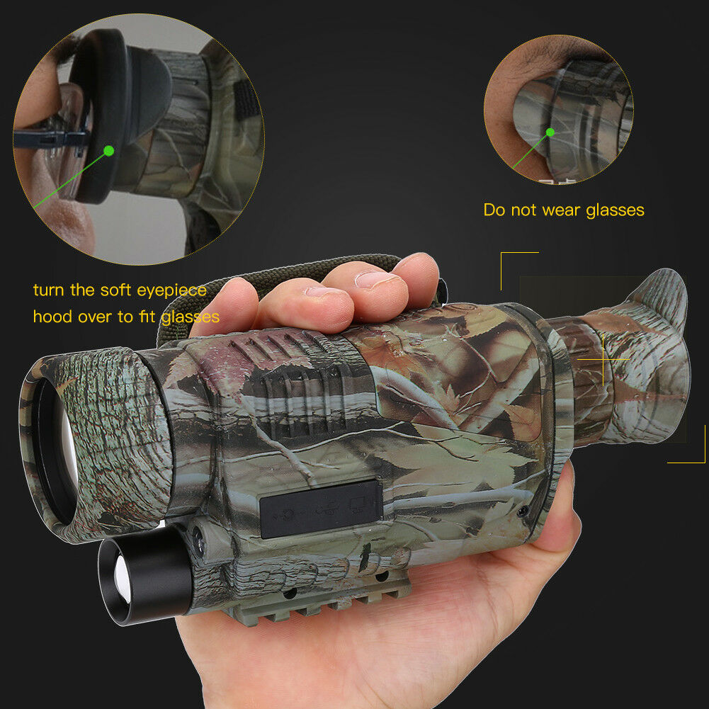 5X40 Night Vision Infrared IR Camera HD Digital Night Vision Scopes with 1.5 TFT LCD Take Gulakey Night Vision Monocular
