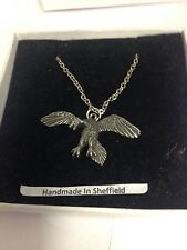 """Archaeopteryx We-Fap Emblem on Silver Platinum Plated Necklace 18"""""""