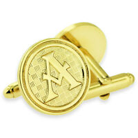 Letter A Alphabet Initials Cufflink Set Gold Or Silver