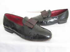 "ALLEN EDMONDS Men's ""RITZ"" BLACK LEATHER Formal Loafers Tuxedo Shoe Size 9D"