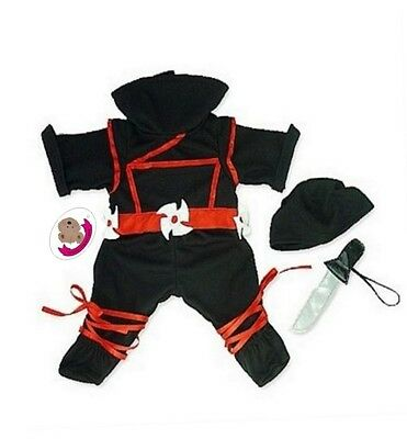 Teddy Clothes fits Build a Bear Teddy Ninja Warrior and Weapon Teddies Clothing