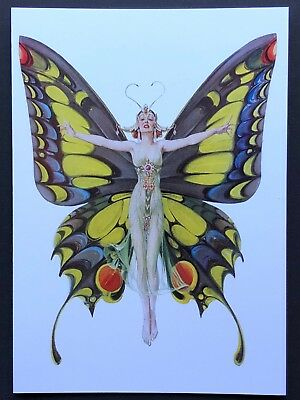 977-MSA Charlotte Bird BUTTERFLY FAIRY Blank Greeting Note Card NEW