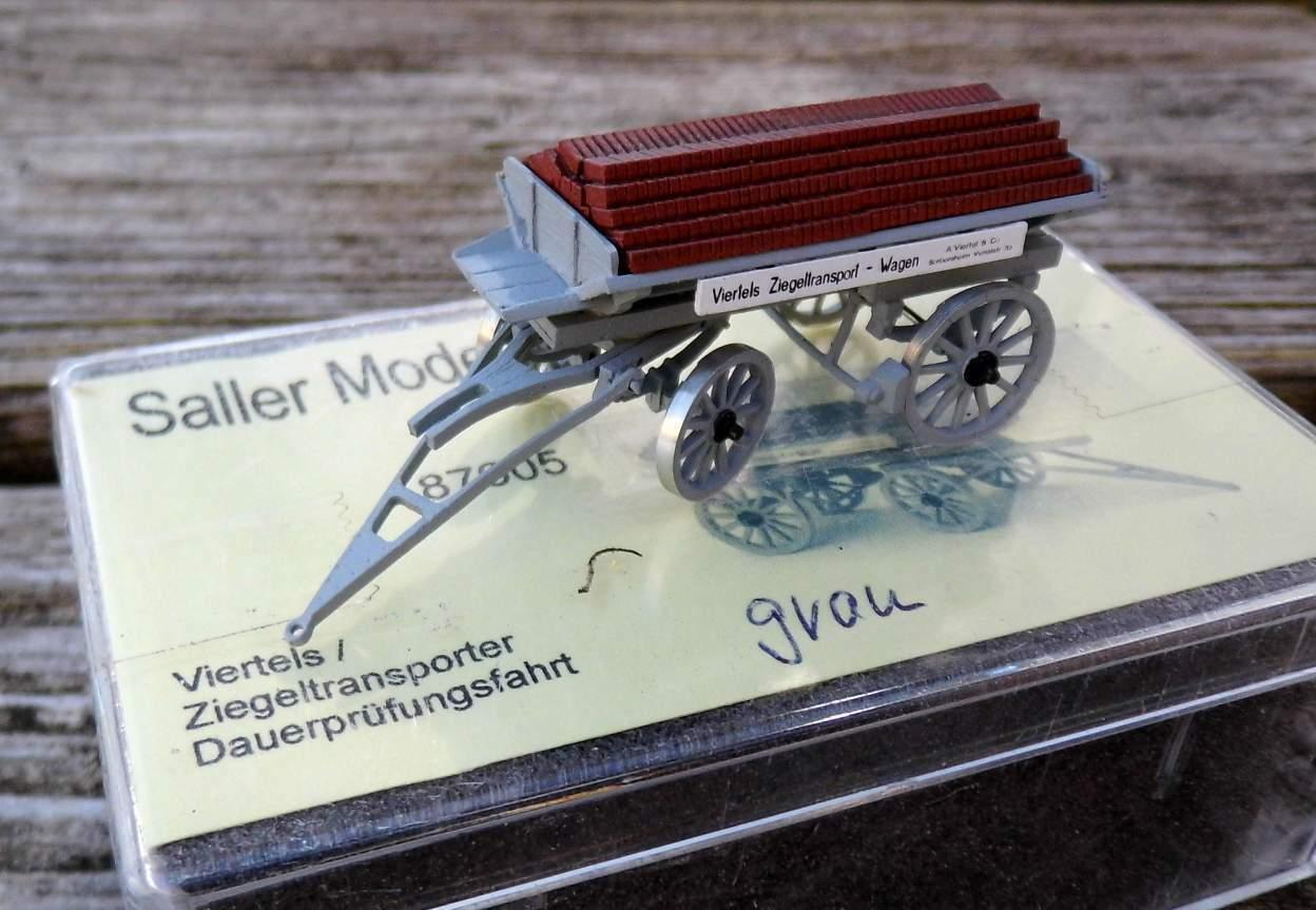 Viertels Ziegeltransporter - Dauerprüfungsfahrt   - von Saller 1 87