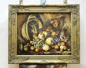 Painting-Fruit-Handmade-Oil-Painting-Picture-Oil-Frame-Pictures-G96001