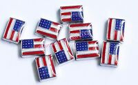 10pc Lot Us American Flag Military Floating Charm For Glass Memory Locket