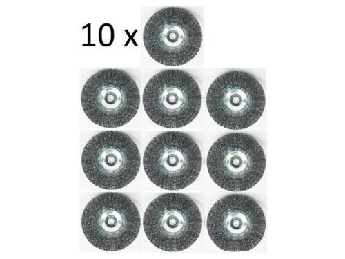 10x Métal Brosse couleur supprimer entrosten pour perceuse à 4.500 Tour