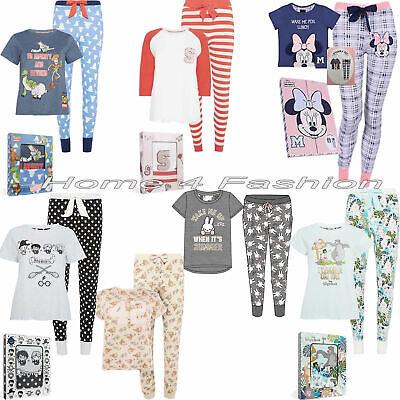Ladies Primark Disney Bambi Nightwear Tshirt Long Pyjama Women/'s PJ/'s Set