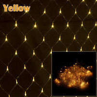 3Mx2M LED Christmas Tree Garden Curtains Home Wall String Fairy Net Lights Decor