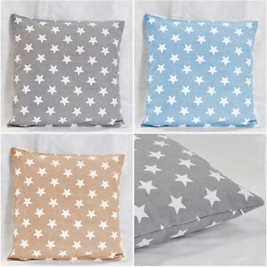 White-Star-Pattern-Cotton-Canvas-Safo-Decor-Cushion-Cover-Pillowcover-Pillowcase