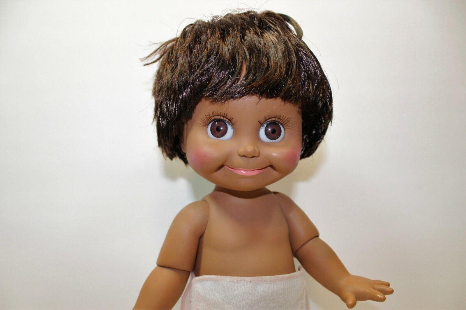 Galoob Cara de Bebé Muñeco tan tímido Sherri Rara Vintage 1990 Lgti cabello castaño y ojos