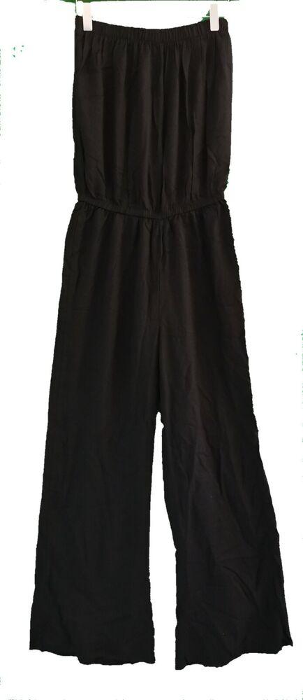 Bnwt Next Noir Bustier Combinaison-taille Uk 8