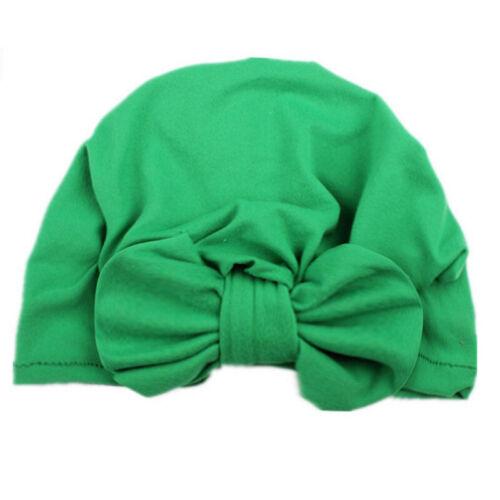 Newborn Baby Bow Knot Flower Turban Head Wrap Girl Boy India Soft Cap Beanie Hat