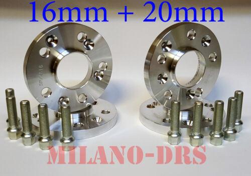 KIT 4 DISTANZIALI RUOTA 16+20mm MERCEDES  CLASSE A W176 2012/>  Bullone SFERICO