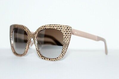 JIMMY CHOO NITA/S J80/NQ NUDE REAL SNAKE SKIN LEATHER AUTHENTIC SUNGLASSES 53 MM for sale online