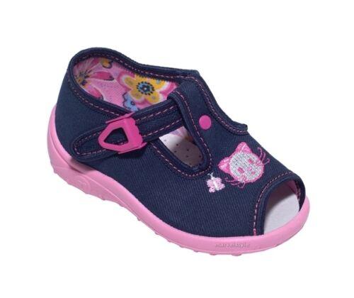 NURSERY SLIPPERS UK 2-9 //EU 18-27 VENTILATION ! BABY GIRLS SANDALS CANVAS SHOES