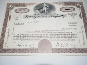 Pennsylvania-Company-Stock-Certificate-Brown-100-shares-assorted-names