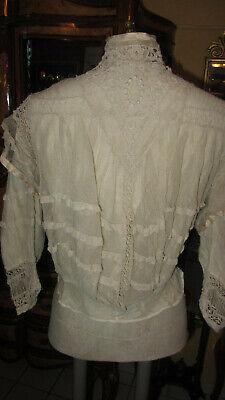 FäHig Antique Irish Crochet Lace Blouse, Bodice Size S, 19th Century In Den Spezifikationen VervollstäNdigen