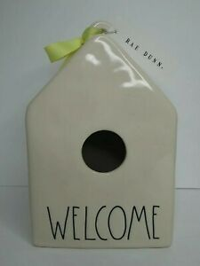 Rae Dunn Welcome Birdhouse Artisan Collection by Magenta Ceramic Farmhouse NWT