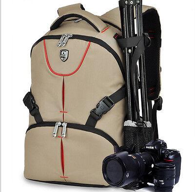 DSLR Camera Waterproof Backpack Bag Case For Nikon Canon Sony Pentax+Rain Cover