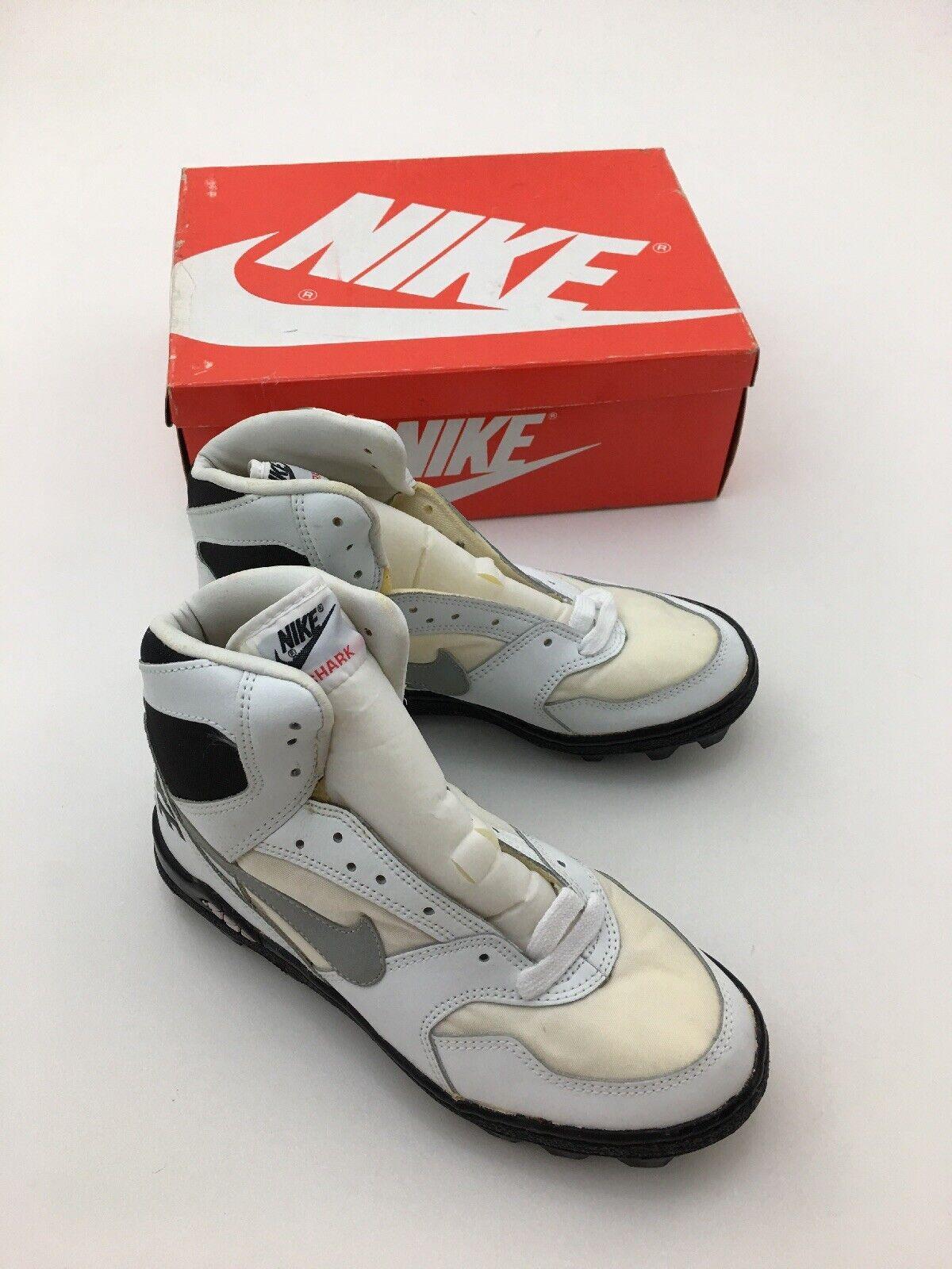 Vintage nike land shark Hi football cleats shoes men's size 7.5 NIB NOS