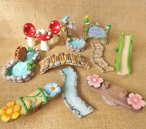 Enchanted-Garden-Woodland-Miniature-World-Fairy-Forest-Dolls-House-Accessories