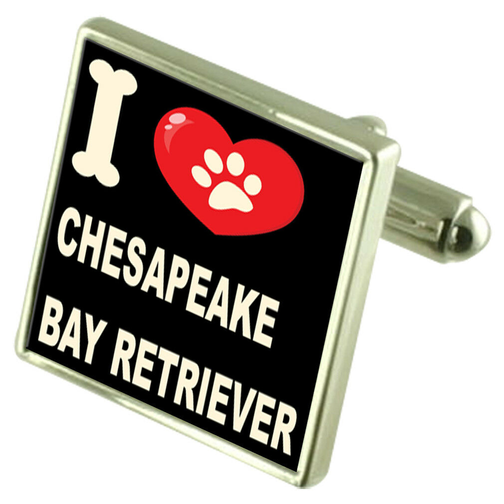 Amo il Mio Cane Tonalità argentoo Gemelli Chesapeake Bay Bay Bay Retriever 4ac118