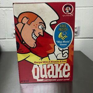 Quake (Aussie) vintage cereal box - Quisp kids food - movie viewer premium