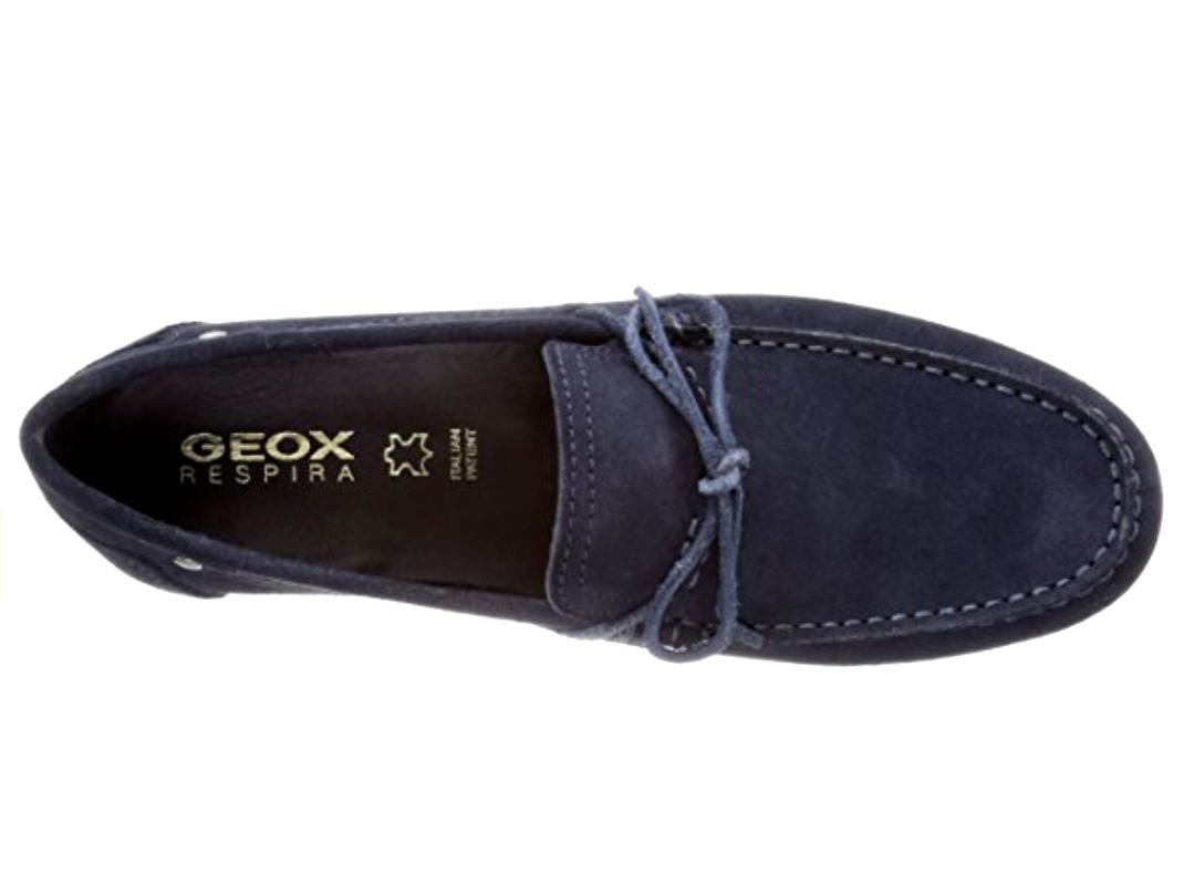 Geox Respira U Giona D D Giona 8 Herren UK 8 D Navy Blau Suede Moccasin ... 006b76