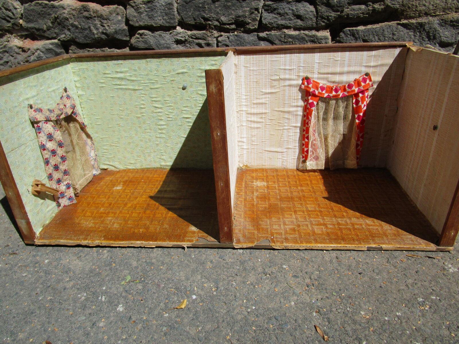 Puppenhaus Puppenstube  Haus 2 Zimmer Räume Puppenmutti  um 1940