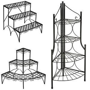 Etagère de jardin pour plantes escalier en fer 3 niveaux env ...