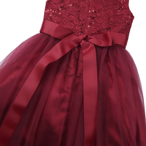 US Flower Girl Dress Kids Party Dress Wedding Bridesmaid Holiday Pageant Formal