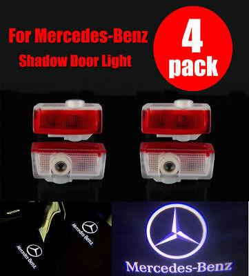 Door Logo Lights for Mercedes Benz Projector 3D Ghost Shadow Puddle Lights Non-fading HD Lens Highly Bright Welcome Courtesy Lamp for A//B//E//W176//W246//W212 Car Accessories