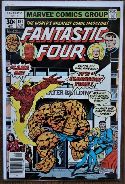 Fantastic Four #181 (1977 Marvel 1st Series) KIRBY Cover, Tigra & Thundra VG/FN