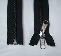 1 - 110 Black 5 Reversible Separating Coil Zipper Lot 200