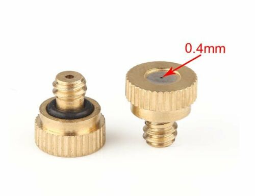 20Pcs Brass Misting Nozzles For Garden Cooling System Thread Orifice 0.2-0.5mm