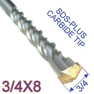 "1 pc SDS Plus 3/4""x8"" or 3/4""x6""x8"" Concrete Masonry Hammer Drill Bit S"