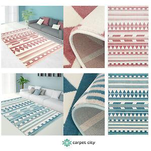 teppich modern designer wohnzimmer inspiration else zickzack pastel rosa blau ebay. Black Bedroom Furniture Sets. Home Design Ideas