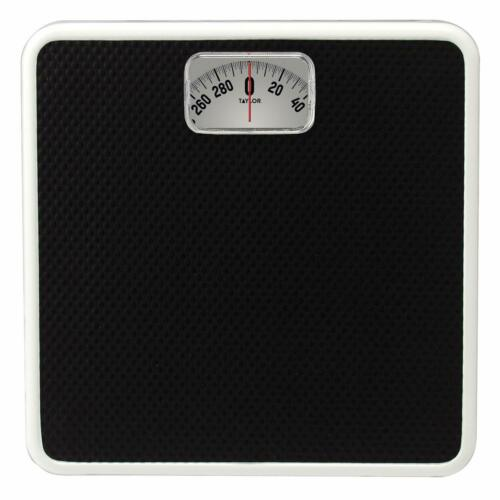 Taylor Precision Products Mechanical Rotating Dial Analog Bathroom Scale Black