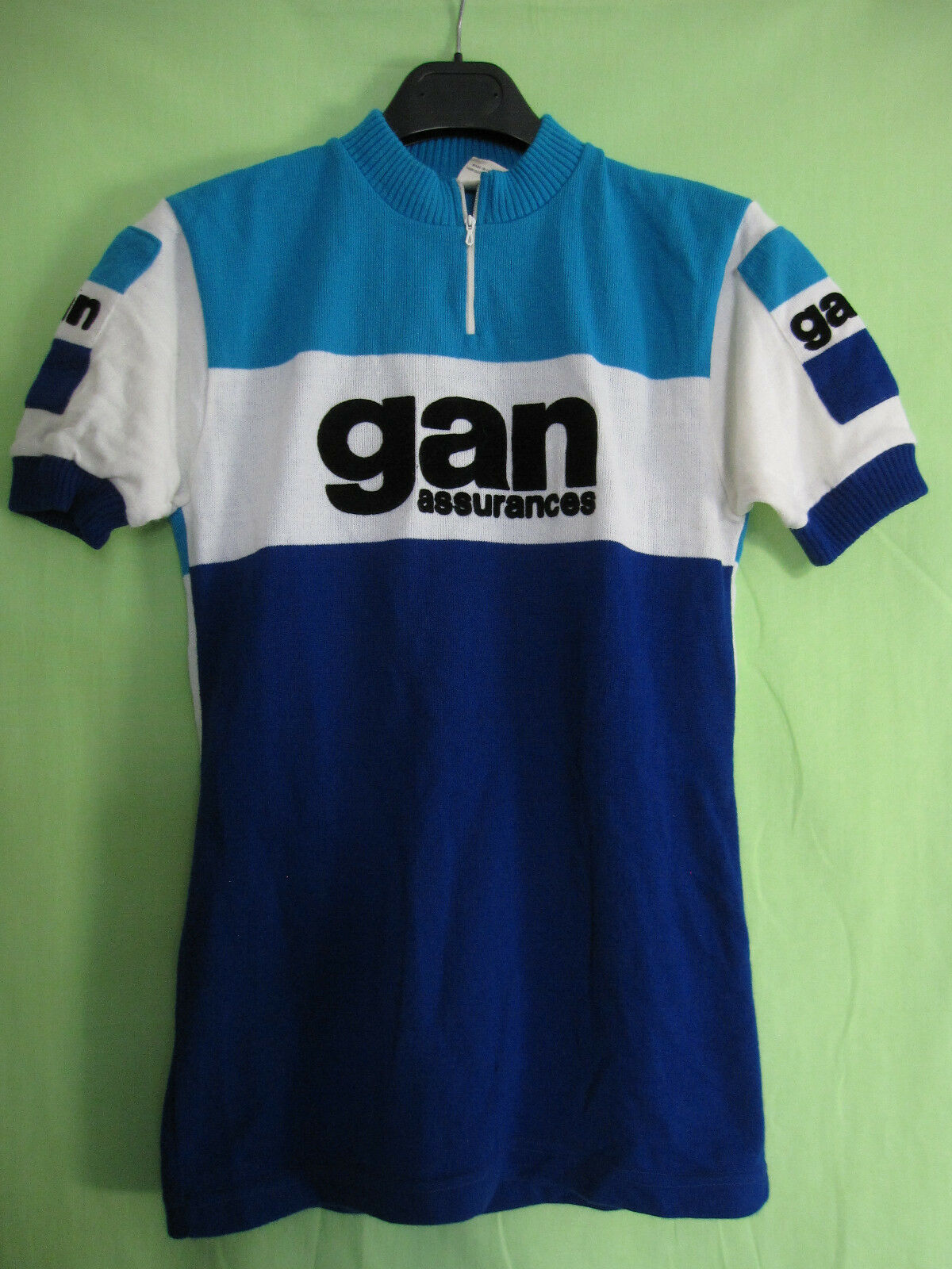 Vintage cycling jersey gan insurance acrylic cycles  70's jersey - 3 m  preferential