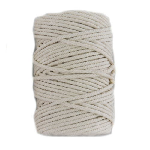 2//3//4//5mm Natural Cotton Twisted Cord Craft Macrame Artisan Rope Craft String